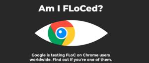 Screenshot der Website Am I FLoCed